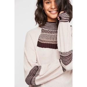Free People Snow Day Thermal White Top M